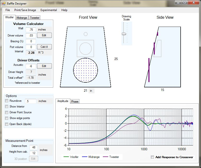 Sloped baffle - how to calculate the slope? - Techtalk